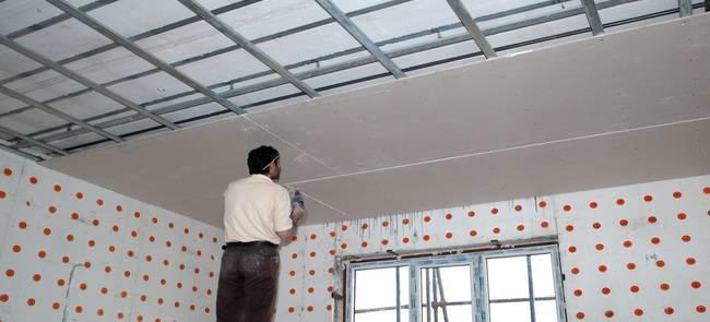 سقف کناف , بازسازی بنا